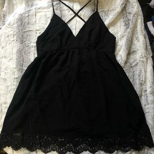 Forever21 Black Lace Detail Dress